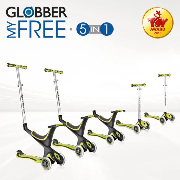 GLOBBER MYFREE 5in1 (グロッバー マイフリー5イン1)(子供用/キッズ/スクーター/キックスケーター/キックボード/フランス/ライダー/スケートボード/トレーニング/誕生日/プレゼント)
