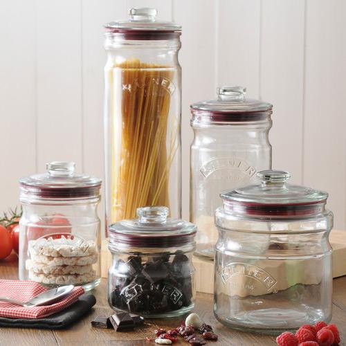 KILNER(kiruna)PUSHTOP GLASS STORAGE JAR 1.5L(推最高层玻璃杯库存保温瓶)(保存瓶色拉梅酒果酒酸黄瓜果酱沙司保温瓶漂亮)