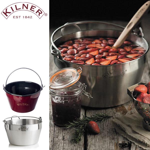 KILNER(キルナー)JAM PAN 8L(ジャムパン8リットル/ジャム作り用鍋)(電気・ガス・IH対応 ステンレス)