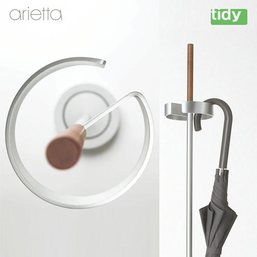 tidy arietta(ティディ アリエッタ)傘掛け 傘立て(アンブレラスタンド スリム シルバー マット おしゃれ シンプル ミニマル)
