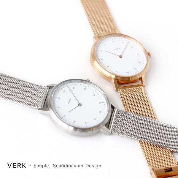 VERK WATCH STAIB MESHスウェーデンの時計ブランド(40mm 北欧デザイン ステンレススティール シンプル ミニマル ドイツ製 ギフト プレゼント 贈答 贈り物) 父の日