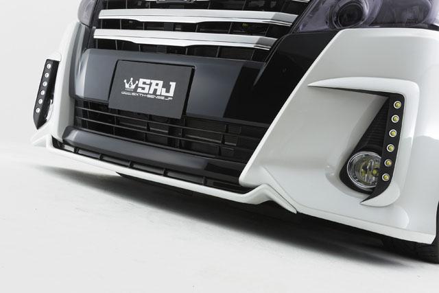 80ノア Siグレード用 ABS製エアロSEVEN フロントリップスポイラー 2色塗分け塗装済み!  【シックスセンス ショップ】