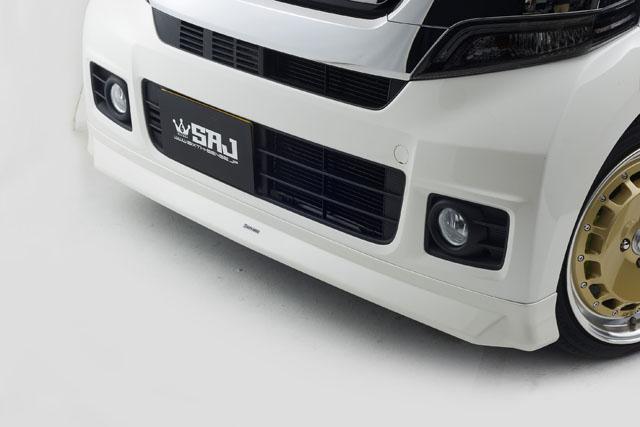 N-BOXカスタム用 ABS製エアロSEVEN フロントリップスポイラー 純正色塗装済み!  【シックスセンス ショップ】