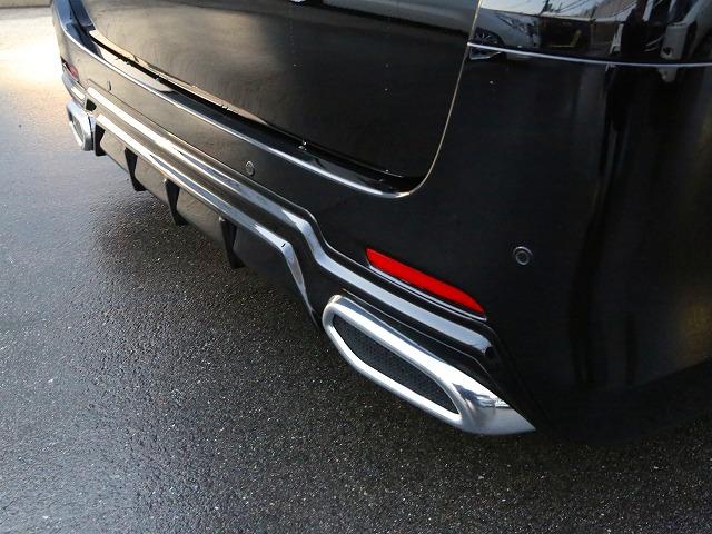 20アルファード後期 Sグレード用 SEVENエアロ リアアンダーガーニッシュ マフラーリングSET ABS製未塗装