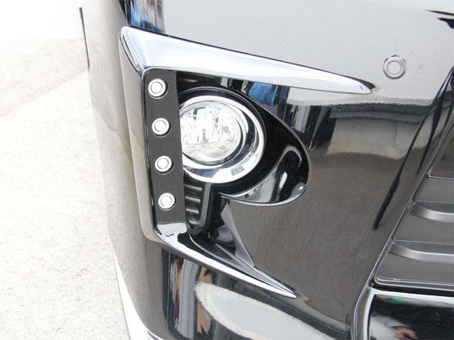 20系ヴェルファイア Zグレード後期 純正バンパー用LEDデイライトキット 純正色単色塗装済み!  【シックスセンス ショップ】