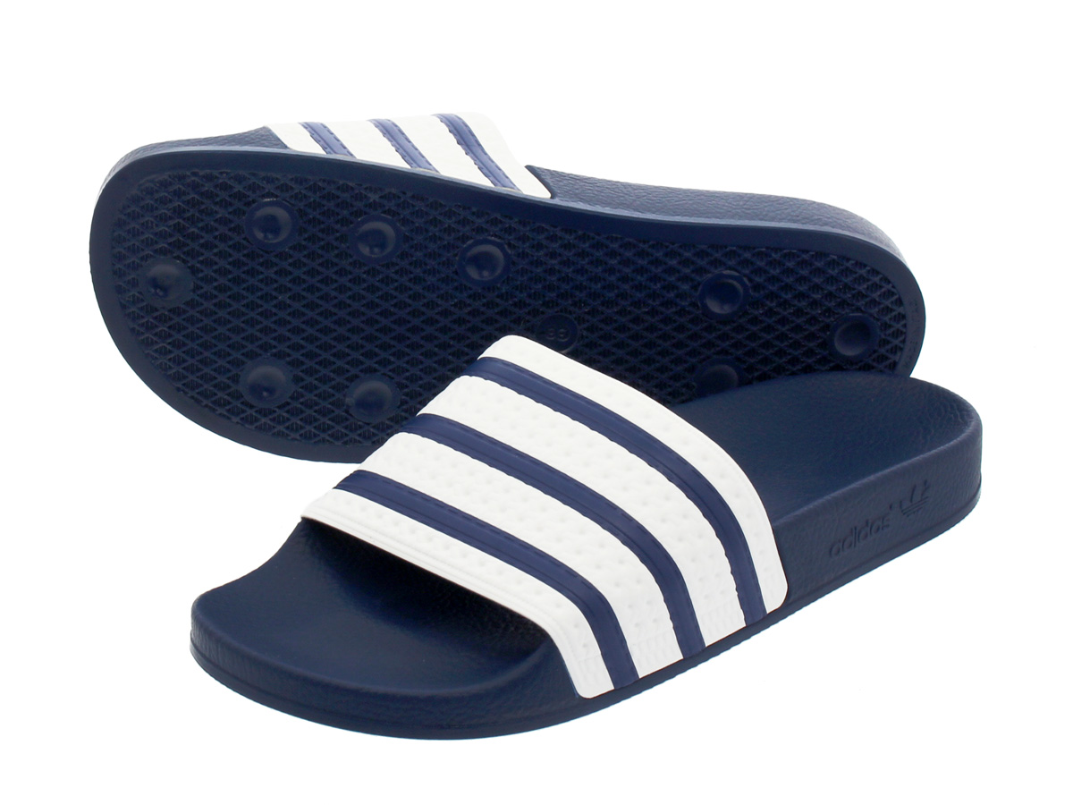 los angeles 27778 39dd6 adidas ADILETTE ADI BLUEWHITE adidas Originals