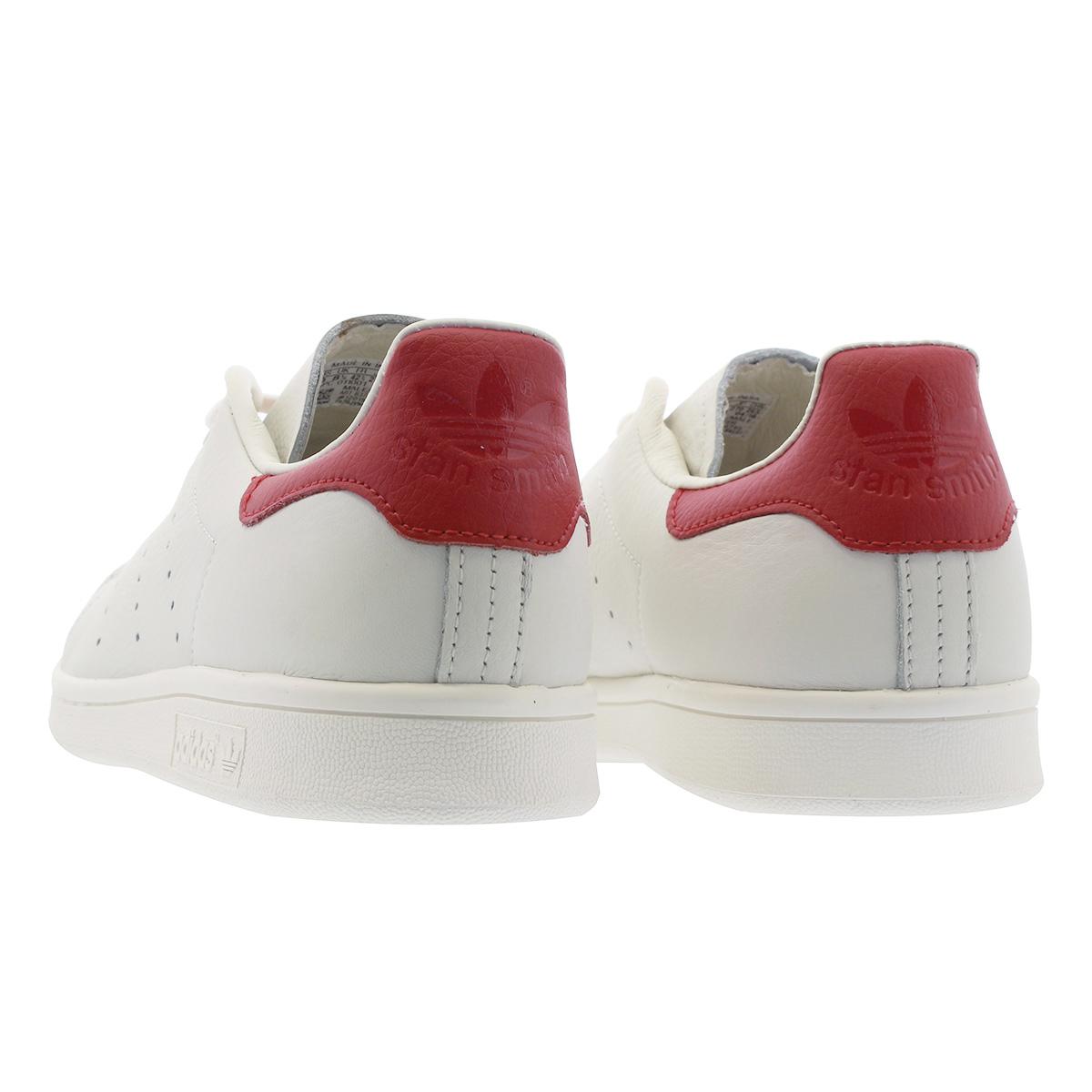 LOWTEX PLUS  adidas STAN SMITH Adidas Stan Smith CHALK WHITE SCARLET ... 3a31e4831