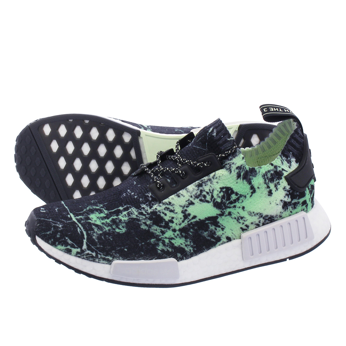 info for 626a1 d027d adidas NMD R1 PK Adidas nomad R1 PK BLACK/WHITE/GREEN bb7996