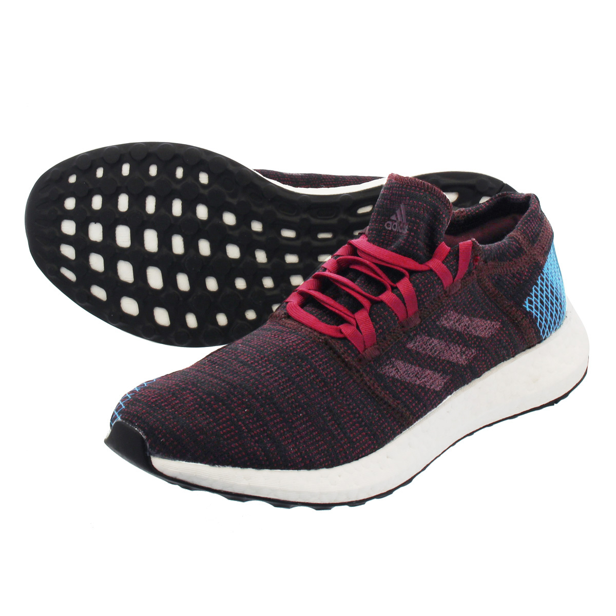 adidas PureBOOST GO アディダス ピュア ブースト GO NIGHT RED/NOBLE MAROON/BRIGHT BLUE ah2326