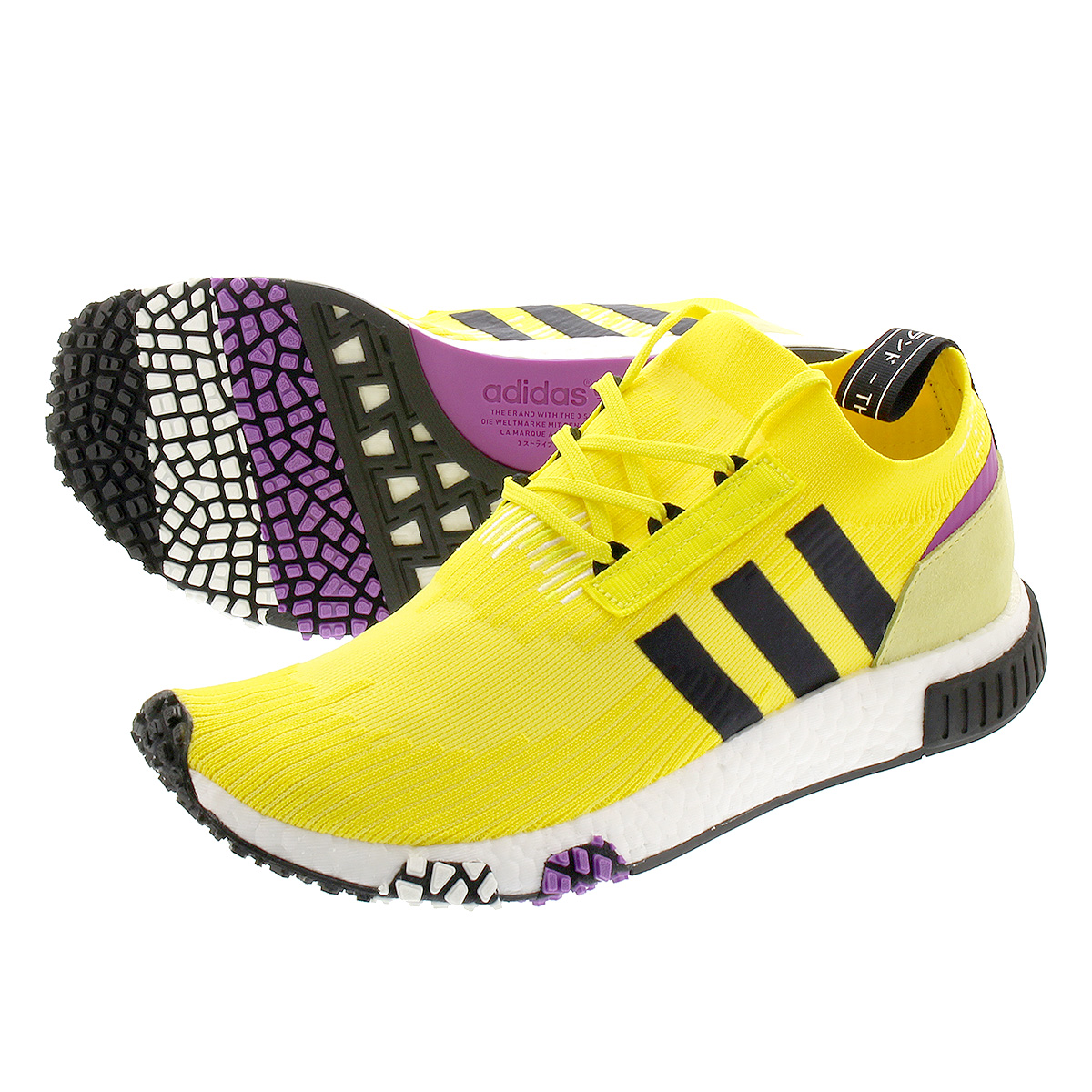 adidas NMD_RACER PK アディダス NMD レーサー PK SOLAR YELLOW/CORE BLACK/PURPLE