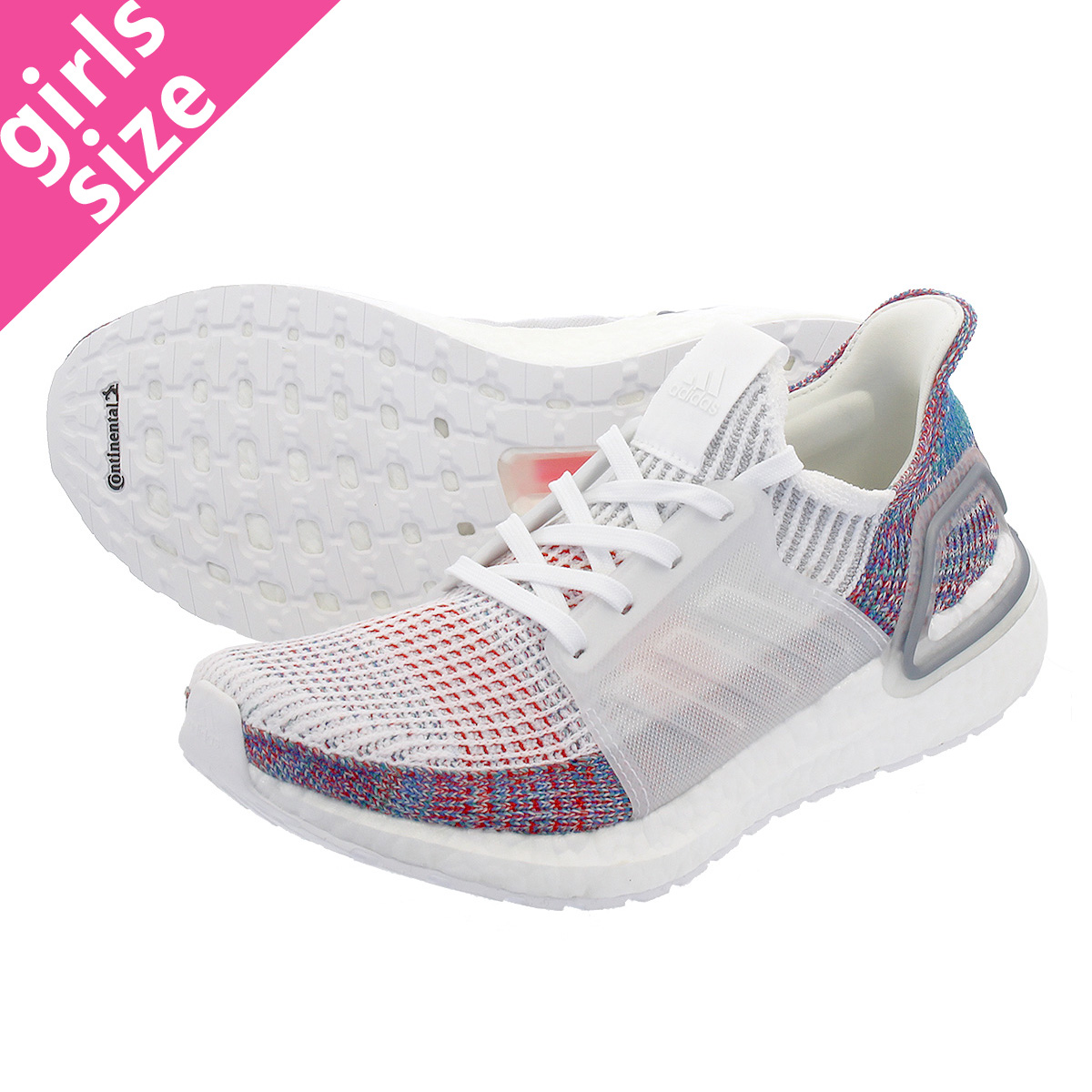 【大人気の女の子サイズ♪】 adidas ULTRA BOOST 19 W アディダス ウルトラ ブースト 19 W RUNNING WHITE/CRYSTAL WHITE/BLUE