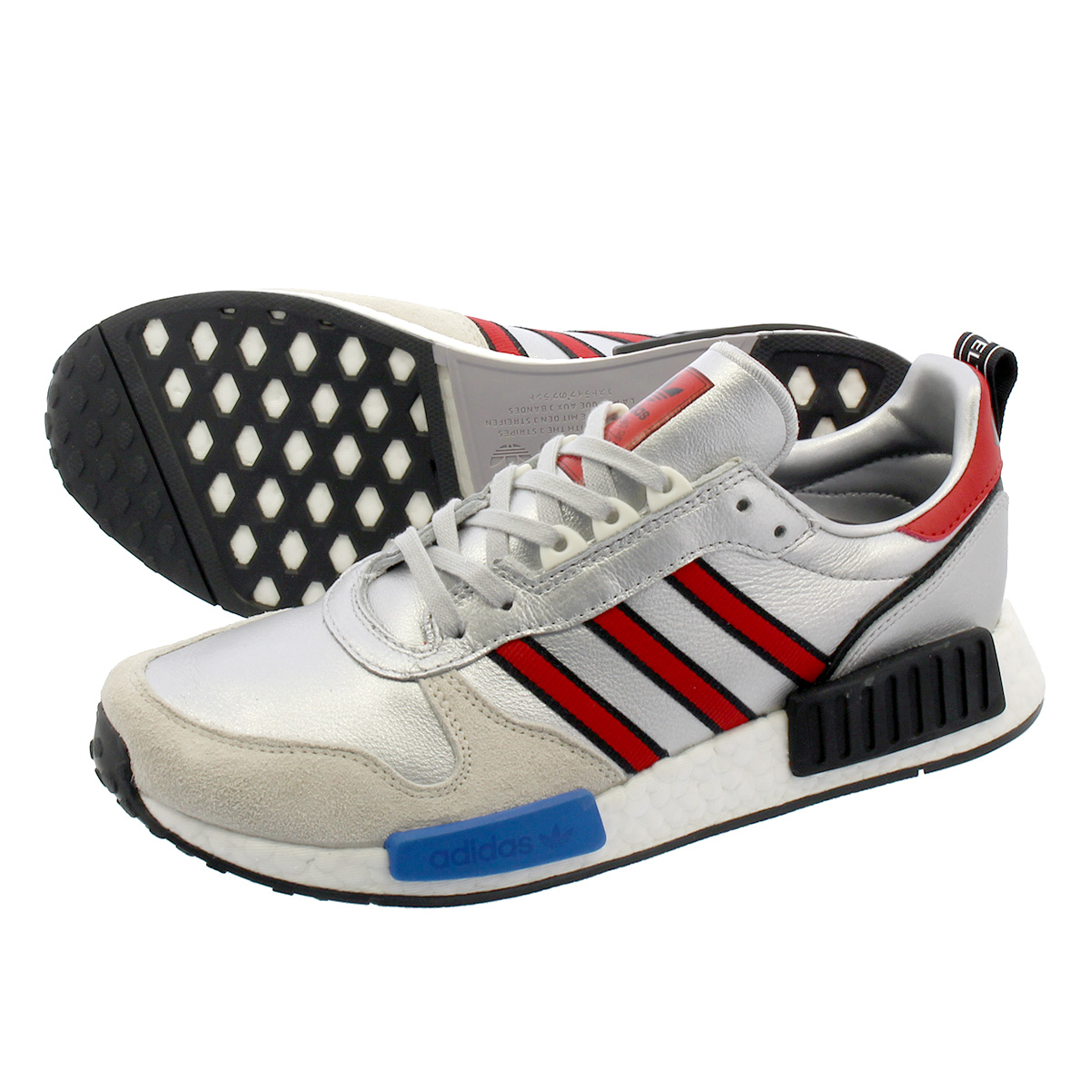 6cb91146a adidas RISINGSTAR x R1 Adidas rising star x R1 SILVER MET COLLEGE  RED RUNNING WHITE