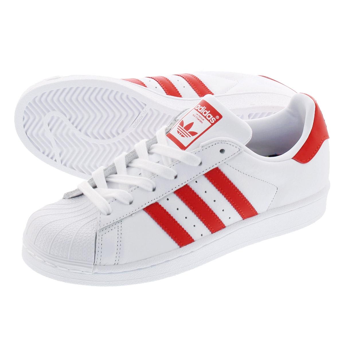 【お買い物マラソンSALE】 【大人気の女の子サイズ♪】 adidas SUPERSTAR W アディダス スーパースター ウィメンズ RUNNING WHITE/ACTIVE RED/CORE BLACK cm8413