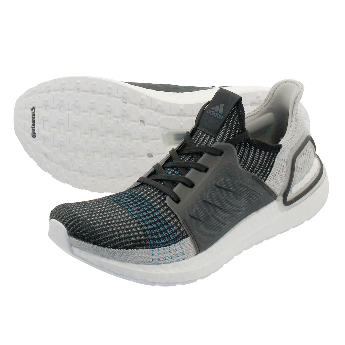 adidas ULTRA BOOST 19 アディダス ウルトラ ブースト 19 CORE BLACK/GREY SIX/SHOCK CYAN f35242