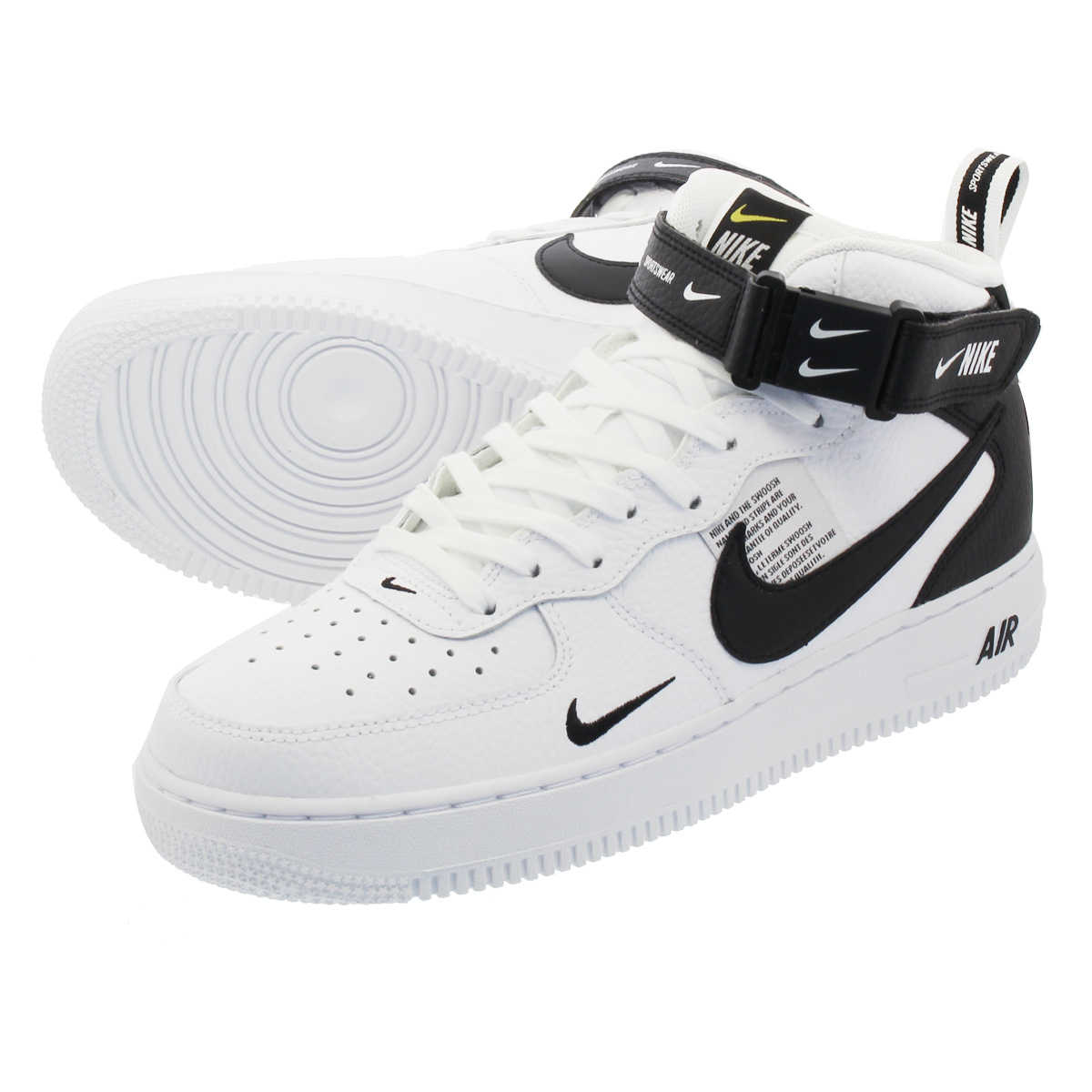 NIKE AIR FORCE 1 MID '07 LV8 UTILITY Nike air force 1 mid '07 LV8 utility  WHITE/BLACK 804,609-103