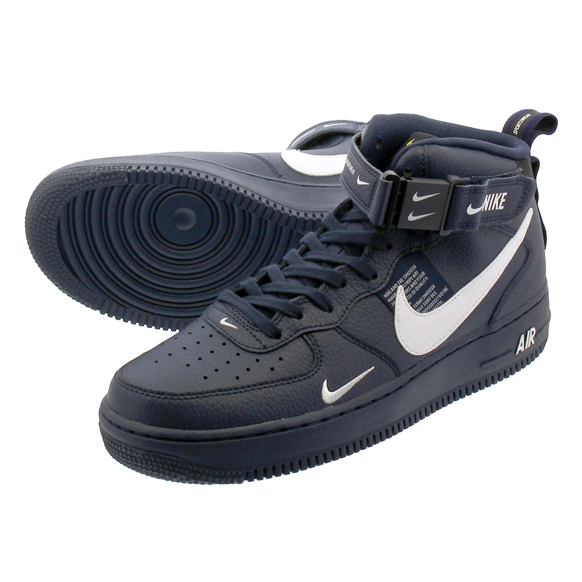 NIKE AIR FORCE 1 MID '07 LV8 UTILITY Nike air force 1 mid '07 LV8 utility  OBSIDIAN/BLACK/TOUR YELLOW/WHITE 804,609-403
