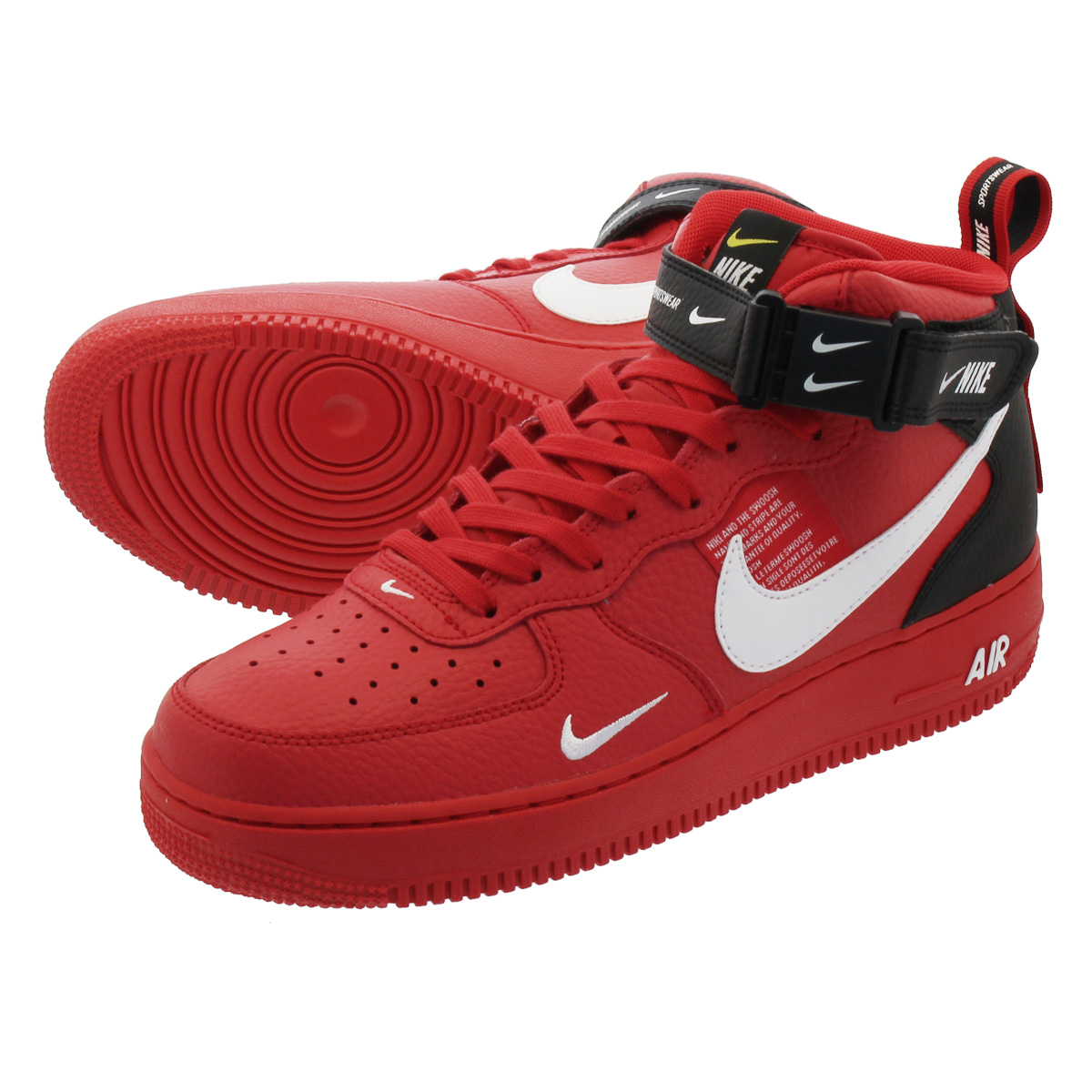 f310915e2e8708 LOWTEX PLUS  NIKE AIR FORCE 1 MID  07 LV8 UTILITY Nike air force 1 mid  07  LV8 utility RED 804