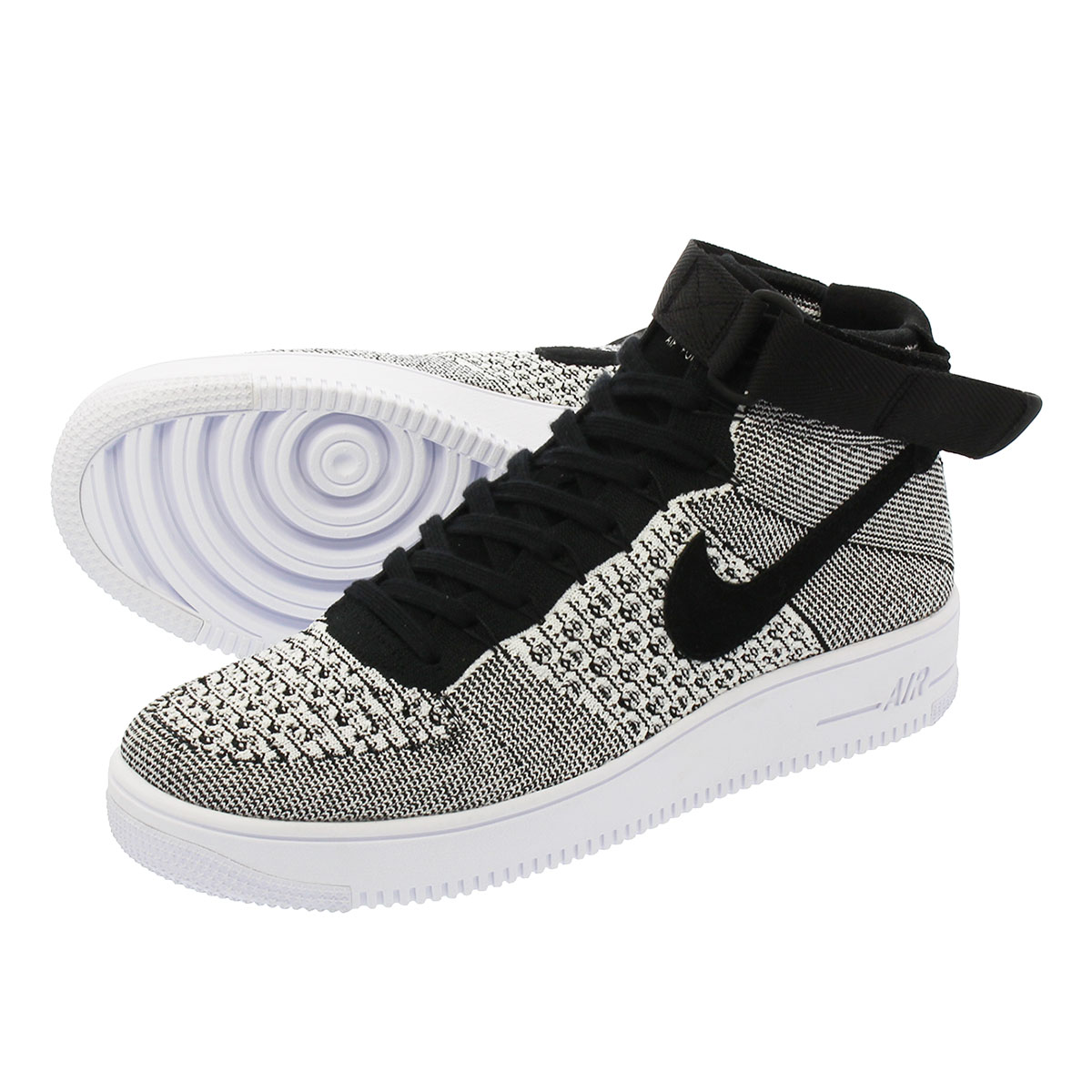 d4688471d5fa NIKE AIR FORCE 1 ULTRA FLYKNIT MID Nike air force 1 ultra fly knit mid BLACK  BLACK WHITE