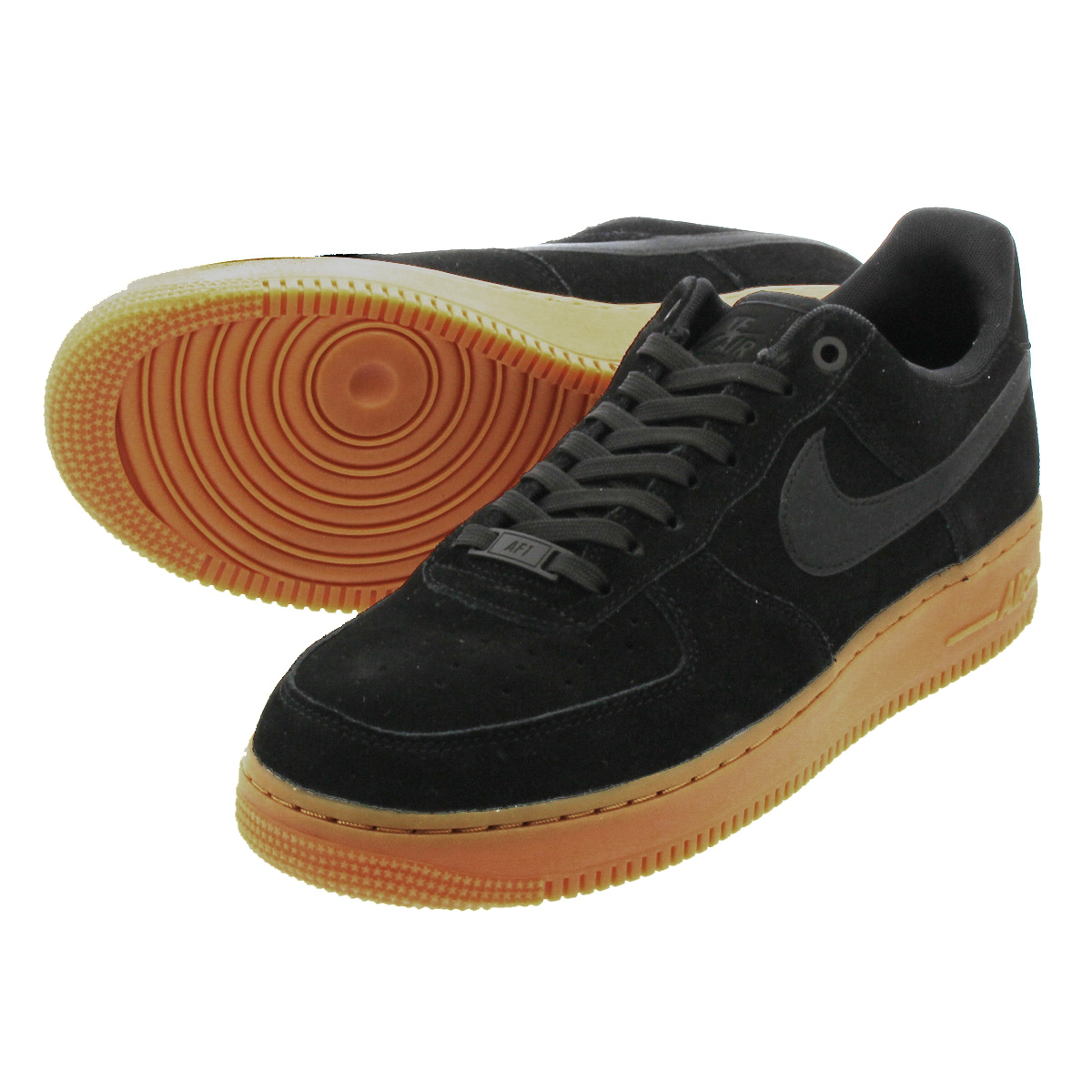 e6b0e7173002 NIKE AIR FORCE 1  07 LV8 SUEDE Nike air force 1  07 LV8 suede SUEDE BLACK  GUM MEDIUM BROWN IVORY aa1117-001
