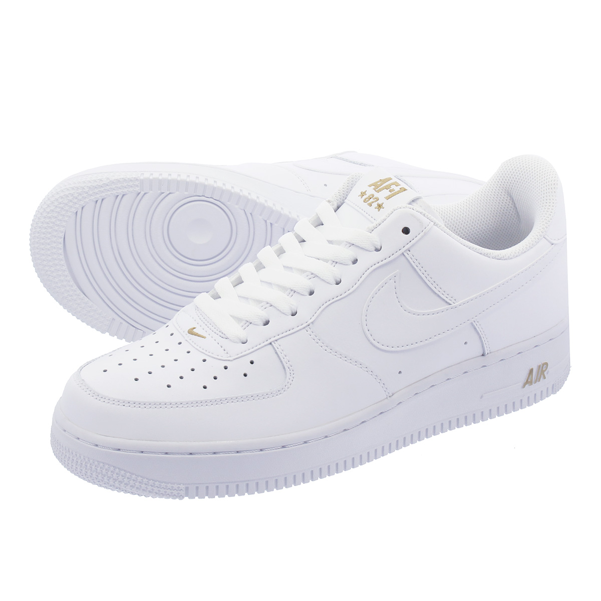 innovative design fc7a0 9f7b2 NIKE AIR FORCE 1  07 Nike air force 1  07 WHITE METALLIC GOLD aa4083-102