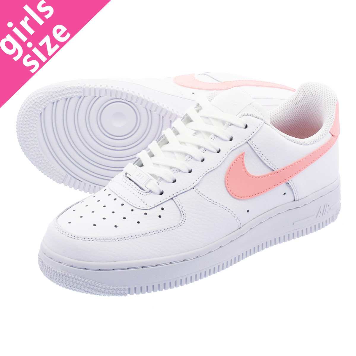 NIKE WMNS AIR FORCE 1 07 Nike women air force 1 07 WHITEORACLE PINKWHITE ah0287 102 l