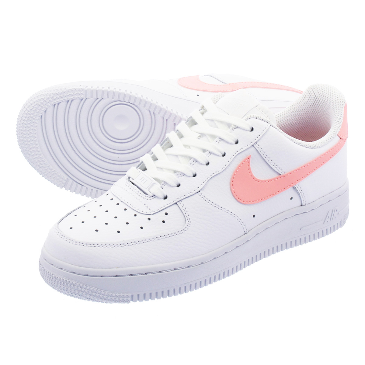63ade7ee52bd7 NIKE WMNS AIR FORCE 1 07 Nike women air force 1 07 WHITE/ORACLE PINK ...