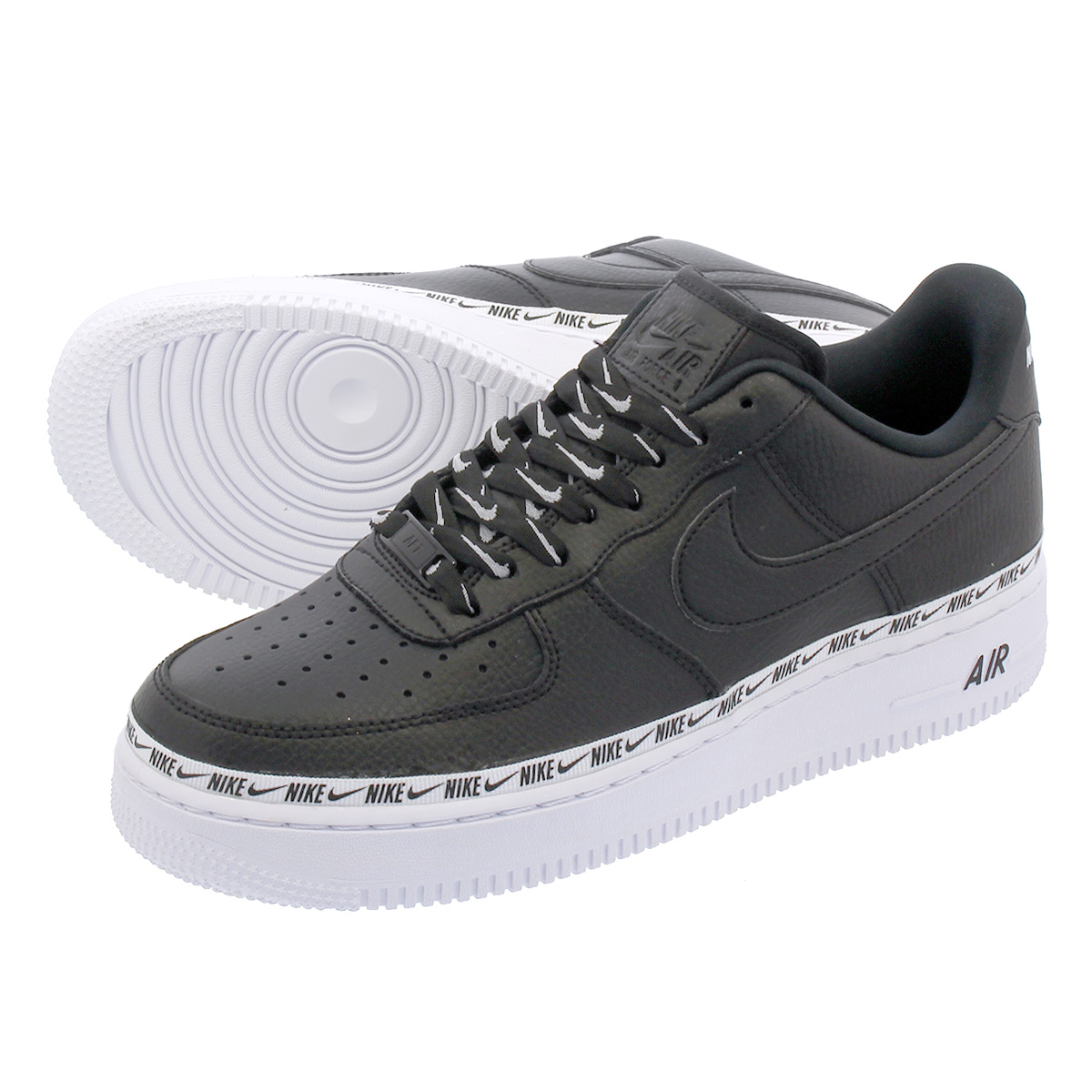 17cbb0b2df2a4a NIKE WMNS AIR FORCE 1  07 SE PRM Nike women air force 1  07 SE PRM BLACK  BLACK WHITE ah6827-002