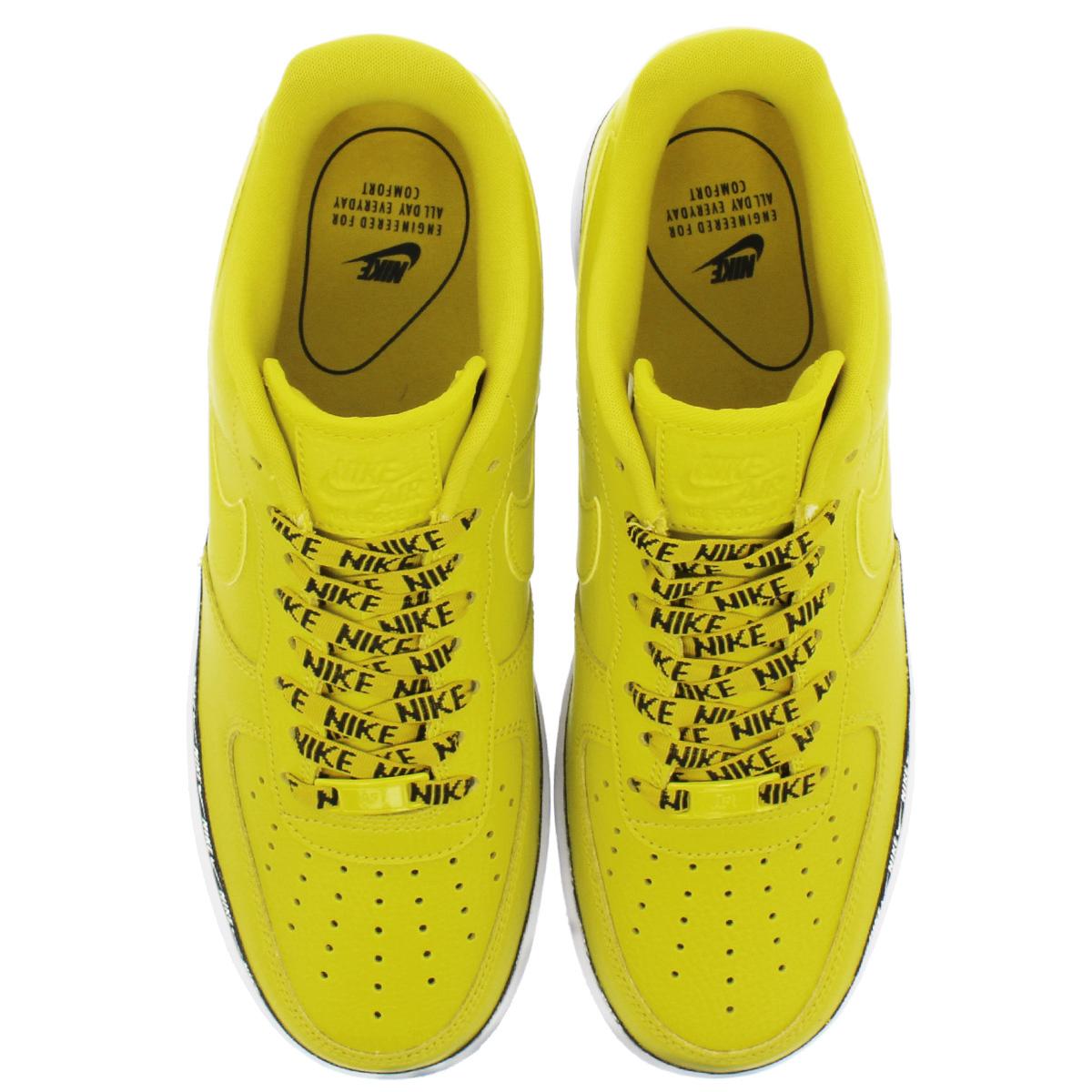 NIKE WMNS AIR FORCE 1 '07 SE PRM Nike women air force 1 '07 SE PRM BRIGHT CITRONBLACKWHITE ah6827 700