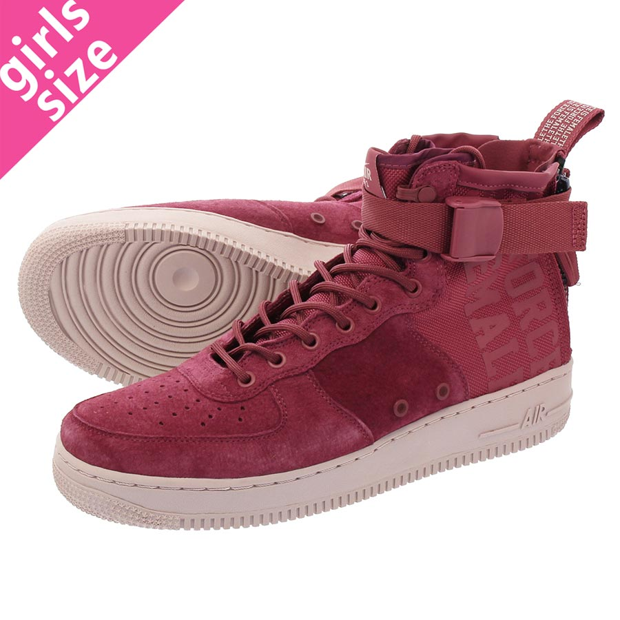 new product 75e18 f8cea NIKE WMNS SPECIAL FIELD AIR FORCE 1 Nike women special field air force 1  mid VINTAGE WINE VINTAGE WINE PARTICLE ROSE aj1698-600-l