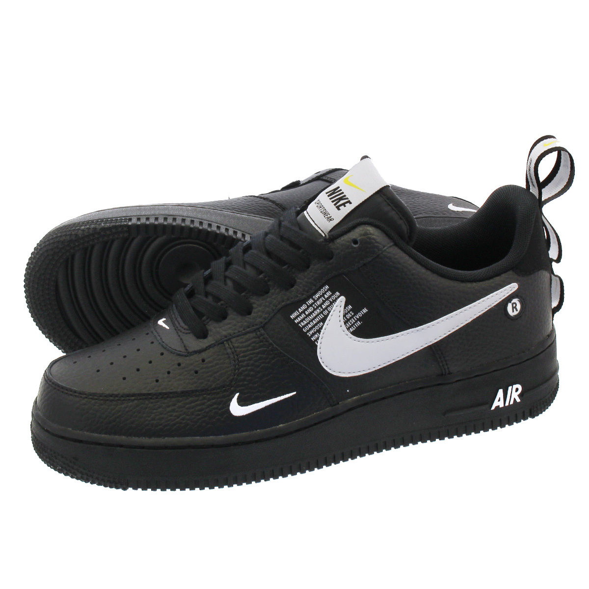 NIKE AIR FORCE 1 '07 LV8 UTILITY ナイキ エア フォース 1 '07 LV8 ユーティリティ BLACK/WHITE/BLACK/TOUR YELLOW aj7747-001