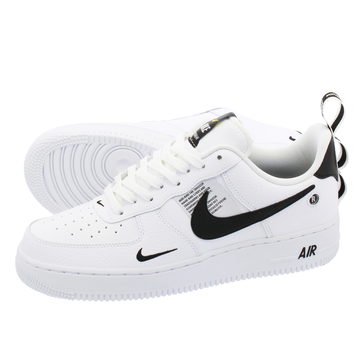 NIKE AIR FORCE 1 '07 LV8 UTILITY Nike air force 1 '07 LV8 utility  WHITE/WHITE/BLACK/TOUR YELLOW aj7747-100