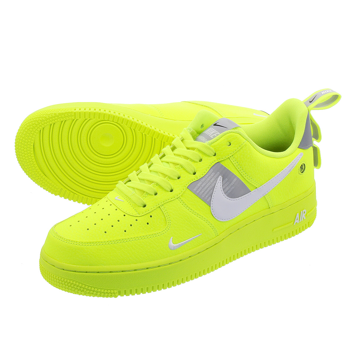 detailed look 9d6eb 2d9e0 NIKE AIR FORCE 1  07 LV8 UTILITY Nike air force 1  07 LV8 utility VOLT WHITE  BLACK WOLF GREY aj7747-700
