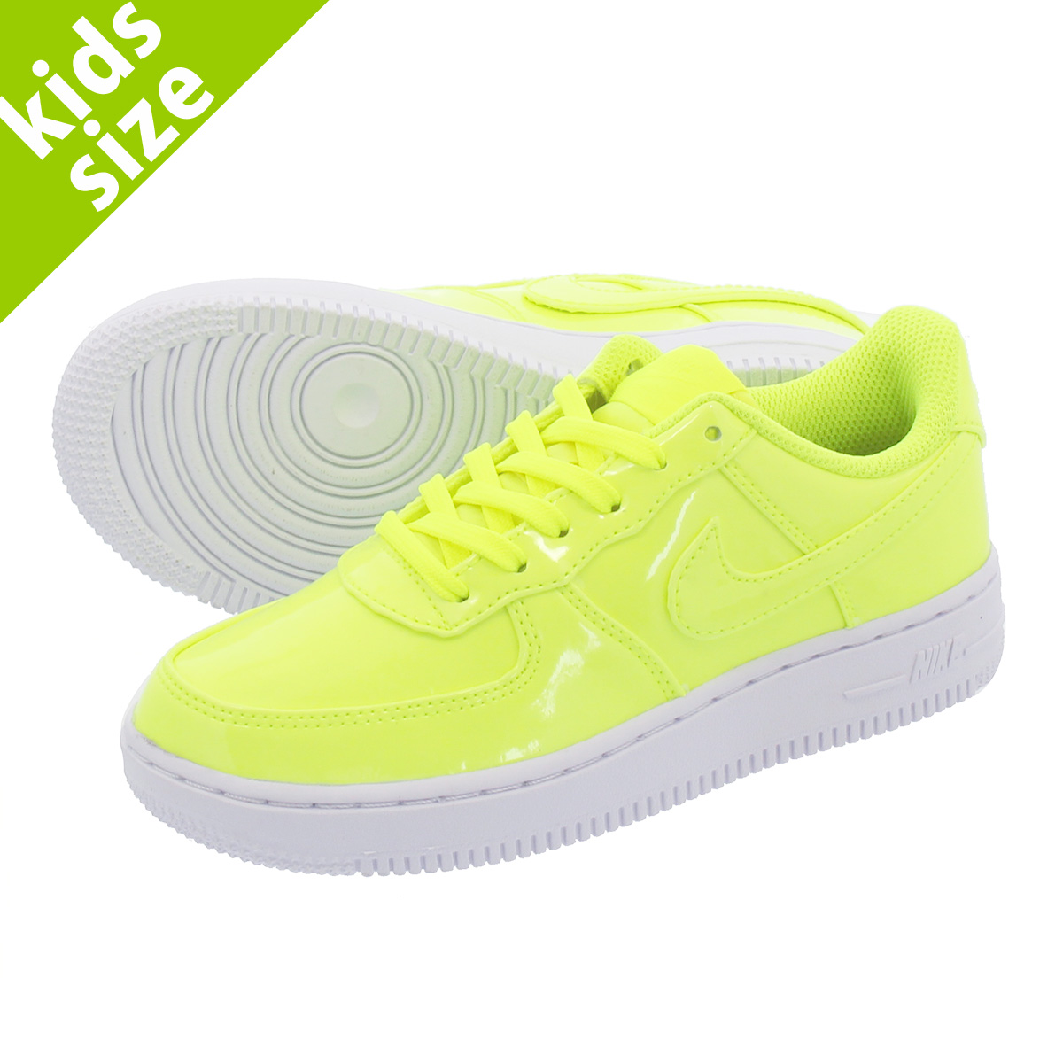 【キッズ サイズ】【16cm-22cm】 NIKE AIR FORCE 1 LOW UV PS ナイキ エアフォース 1 ロー UV PS VOLT/WHITE ao2287-700