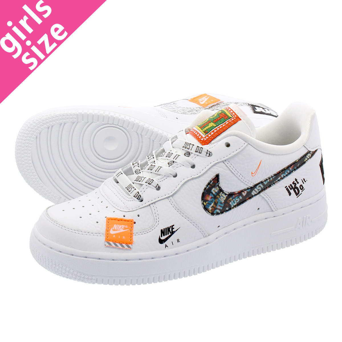 Nike AIR FORCE 1 JDI PRM (GS) 'JUST DO IT' AO3977 100
