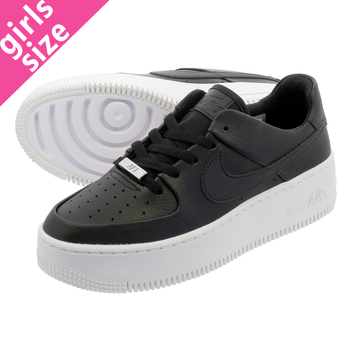 7f5115fbd15 NIKE WMNS AIR FORCE 1 SAGE LOW Nike women air force 1 sage low  BLACK/BLACK/WHITE ar5339-002