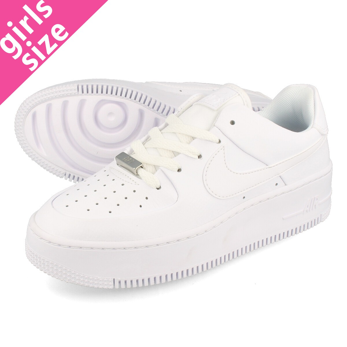 new products b77c1 0a66b NIKE WMNS AIR FORCE 1 SAGE LOW Nike women air force 1 sage low  WHITE WHITE WHITE ar5339-100