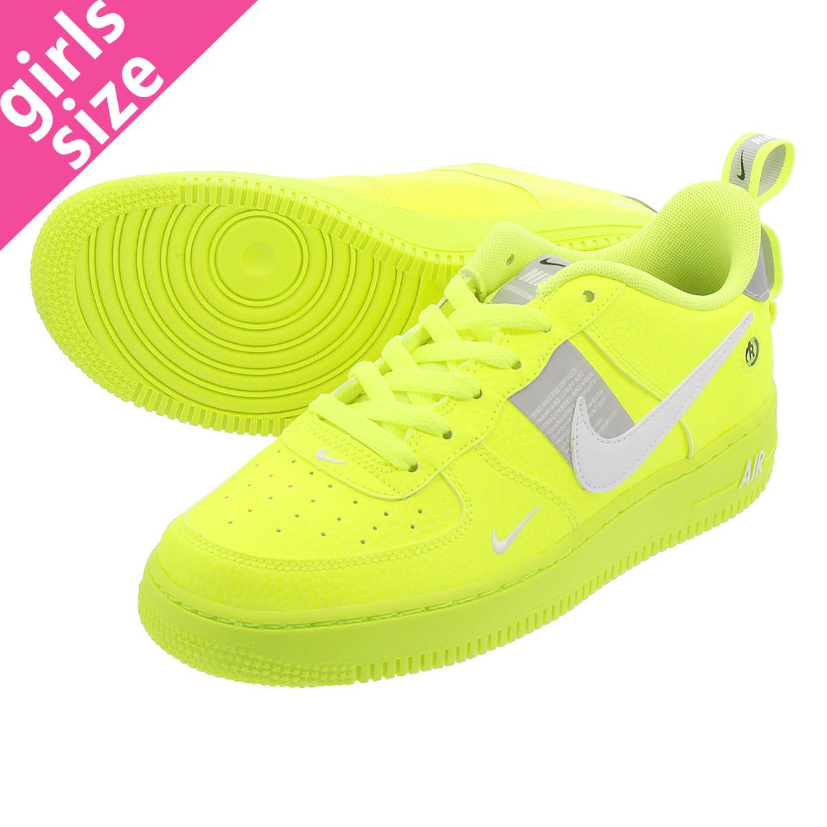 Nike Air Force 1 LV8 Utility GS Volt Green White Wolf Grey Juniors AR1708 700