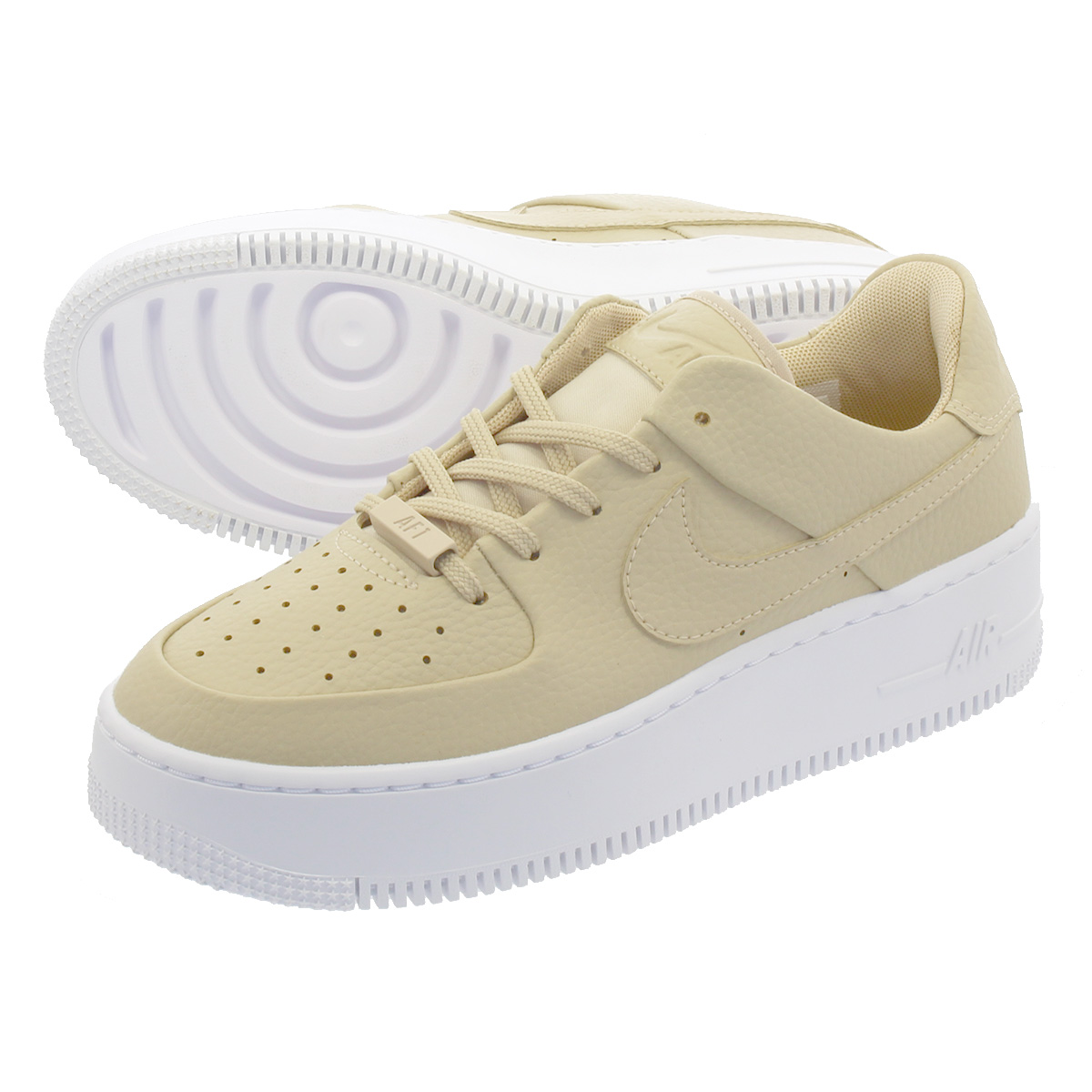 buy online f41f9 2196d NIKE WMNS AIR FORCE 1 SAGE LOW Nike women air force 1 sage low PARTICLE  BEIGE/PARTICLE BEIGE ar5339-202