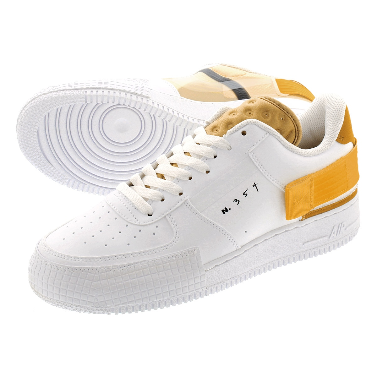 NIKE AIR FORCE 1 TYPE Nike air force one type WHITEUNIVERSITY GOLD at7859 100