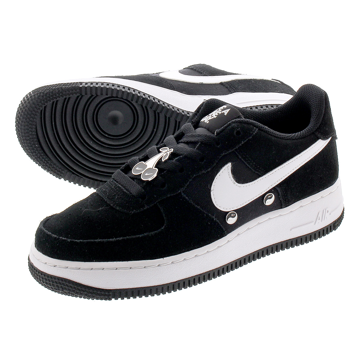 NIKE AIR FORCE 1 LV8 NK DAY GS Nike air force 1 LV8 NK DAY GS BLACKWHITE bq8273 001