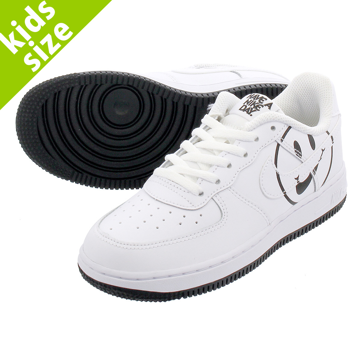 【キッズ サイズ】【16cm-22cm】 NIKE AIR FORCE 1 LV8 2 PS 【HAVE A NIKE DAY】 ナイキ エアフォース 1 LV8 2 PS WHITE/BLACK bq8274-100