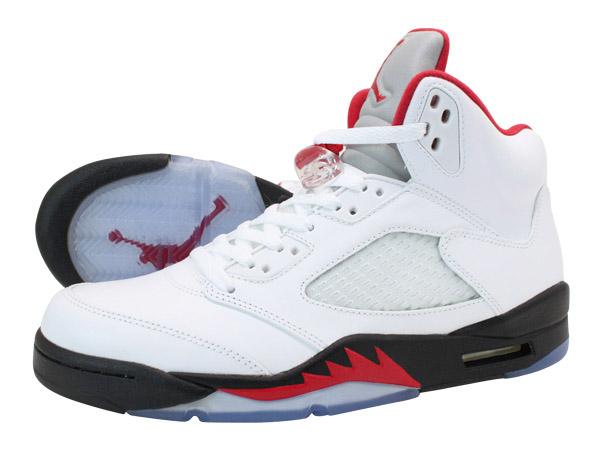 online store fb57a 99b0d NIKE AIR JORDAN 5 RETRO Nike Air Jordan 5 retro WHITE/FIRE RED/BLACK