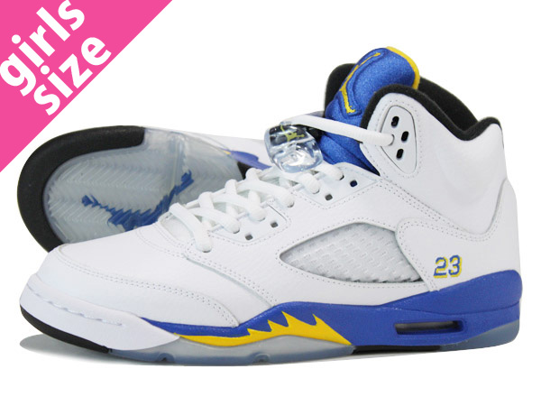 new arrival f2e10 e1e80 LOWTEX PLUS  NIKE AIR JORDAN 5 RETRO GS WHITE BLUE YELLOW  LANEY    Rakuten  Global Market
