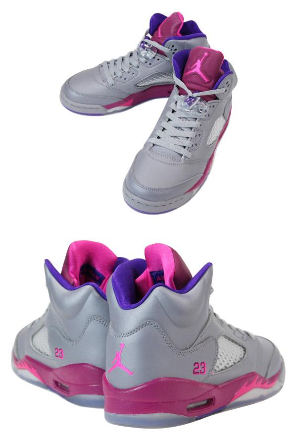 c7ac2085e840 ... canada nike air jordan 5 retro gs grey pink purple 81065 437d9