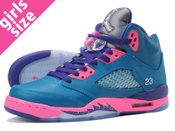 c9e4fdd32808fb LOWTEX PLUS  NIKE AIR JORDAN 5 RETRO GS TEAL PINK  TROPICAL TEAL ...
