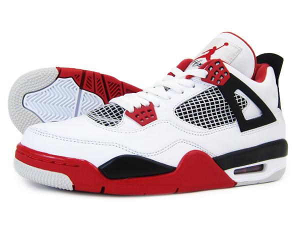 6347a085cb05 LOWTEX PLUS  NIKE AIR JORDAN 4 Nike エアージョーダン 4 retro WHITE VARSITY RED BLACK