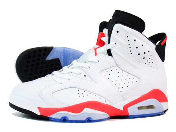 hot sale online 127b9 dd550 NIKE AIR JORDAN 6 RETRO WHITE INFRARED BLACK  SLAM DUNK  桜木花道