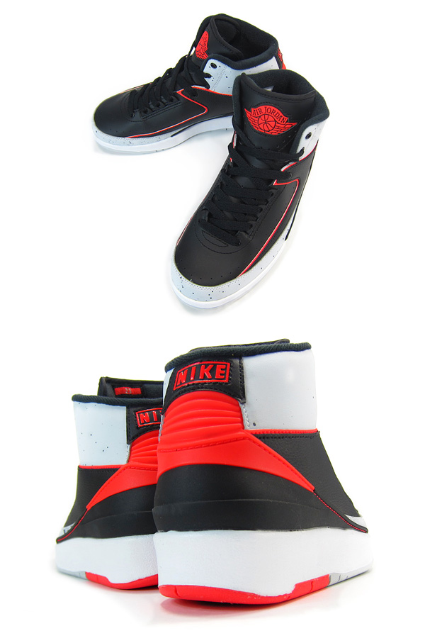 6b9af934dac7 NIKE AIR JORDAN 2 RETRO GS Nike Air Jordan 2 nostalgic GS BLACK INFRARED 23 PLATINUM WHITE  395