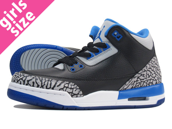 13f25948ddd LOWTEX PLUS: NIKE AIR JORDAN 3 RETRO GS Nike Air Jordan 3 nostalgic GS  BLACK/BLUE/WHITE 398,614-007 | Rakuten Global Market