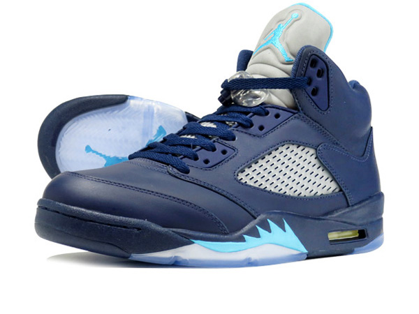 low priced f9af9 fb75a NIKE AIR JORDAN 5 RETRO MIDNIGHT NAVY TURQUOISE BLUE WHITE  HORNETS